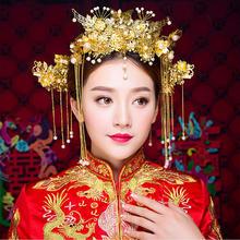 2019新款凤冠新娘结婚秀禾头饰套装