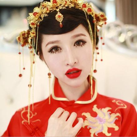 2019新款中式新娘结婚凤冠头饰套装
