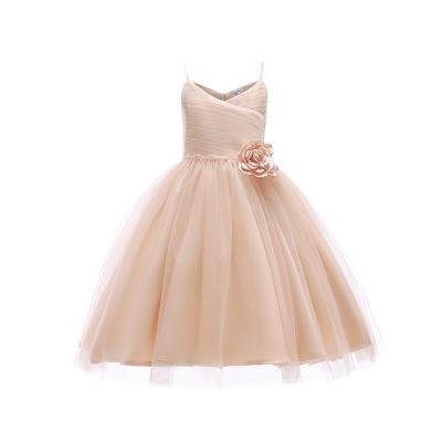 薄款可爱吊带露背公主仙女裙花童礼服