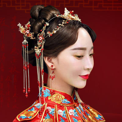 2019新款中式新娘醉红颜套装头饰