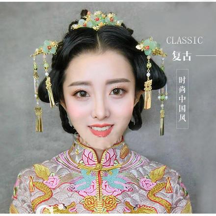 2019新款中式旗袍秀禾服新娘结婚头饰