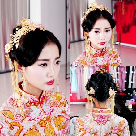 2019新款中式新娘凤冠结婚头饰品套装
