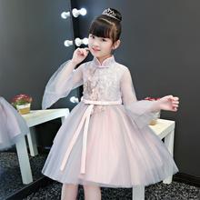 长袖仙气梦幻公主裙花童小礼服