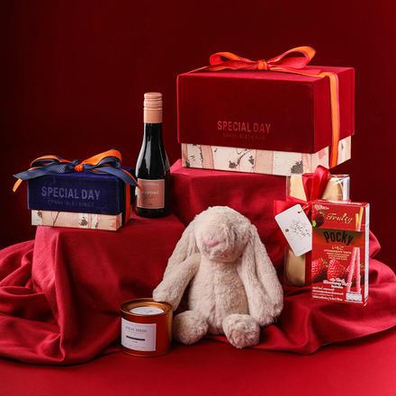 中欧式致爱丽丝红色丝绒礼盒