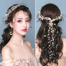2019新款结婚新娘伴娘手工珍珠发带