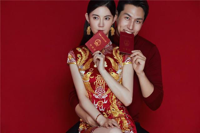 新郎新娘领结婚证