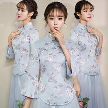 2019新款中式仙气中国风闺蜜姐妹团伴娘服