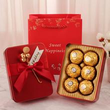 欧式金果结婚马口铁盒成品喜糖(50盒起售)