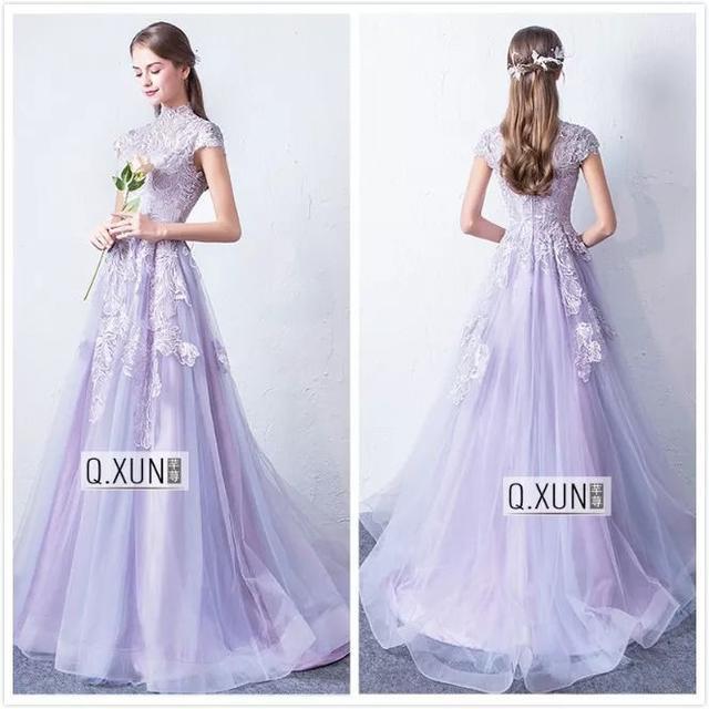 紫色敬酒服