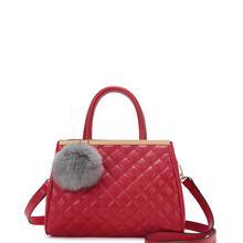 新款韩版时尚菱格链条小方包手提女包