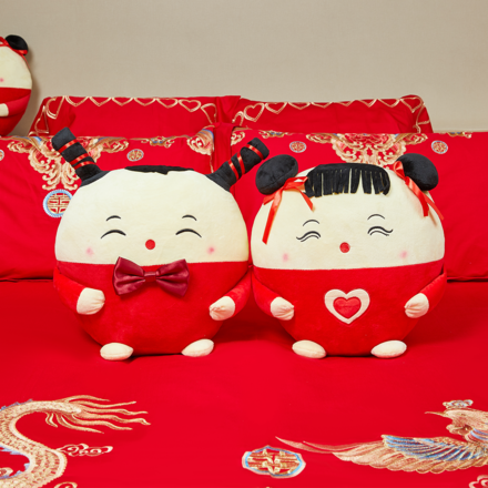 【可定制】【一对】中式传统此情可待压床娃娃