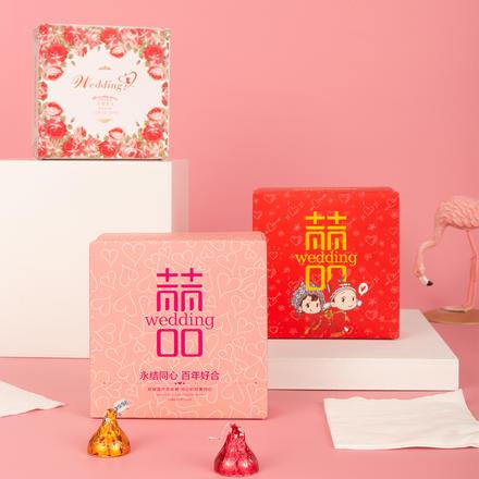 创意小清新婚礼宴席纸巾