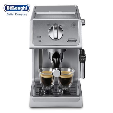 德龙(Delonghi)意式浓缩半自动家用咖啡机 银色