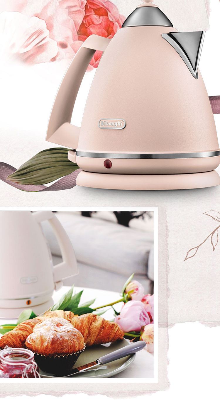 Delonghi/德龙 意大利花园系列不锈钢电热水壶