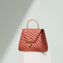 小众设计女士皮手提包真皮包包女2019新款小香风单肩斜挎包