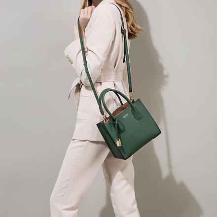 大气简单欧美时尚单肩斜跨真皮女包托特包