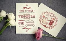 结婚喜宴请帖填写模板