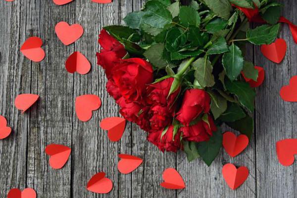 红玫瑰和红爱心
