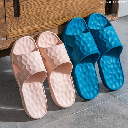 EVA抗菌超清水立方情侶日式浴室拖鞋