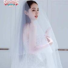 郭碧婷婚纱照曝光,连头纱都配齐了,明星为何钟爱这两种婚纱颜色