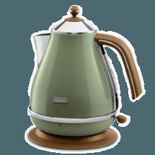 德龙(Delonghi)复古系大容量电热水壶 橄榄绿