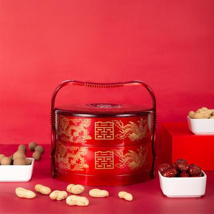 嫁妆食盒提篮多层礼品复古篮子