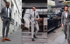 灰色西服配什么鞋子