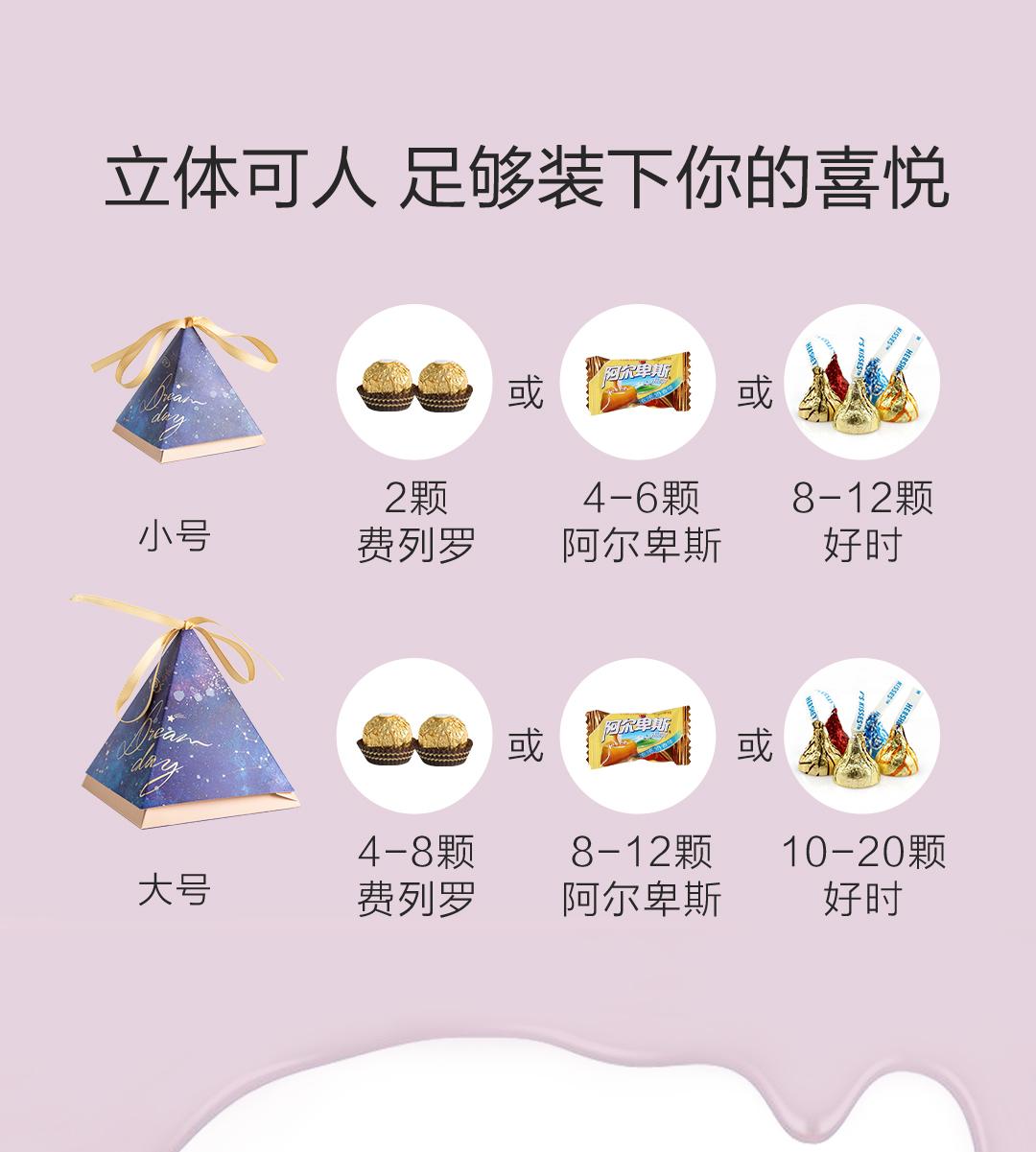 欧式双层三角喜糖盒