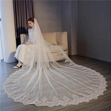 繁花新娘头纱