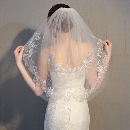 佳人新娘头纱