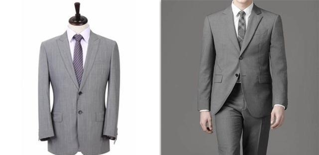 浅灰色西服搭配
