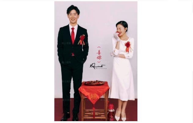 婚纱照留白排版