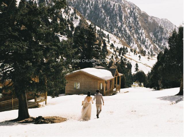 哈里哈图冬天旅拍婚纱照