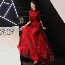 2019新款长袖红色中式结婚高贵显瘦新娘敬酒服