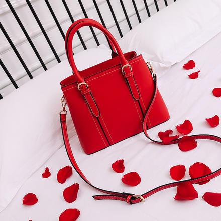 大气优雅通勤红色大容量婚包