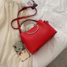 时尚个性圆环三口袋手提包婚包
