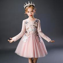 长袖刺绣可爱风公主裙