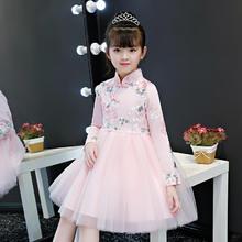 2019秋季新款长袖旗袍甜美可爱公主裙