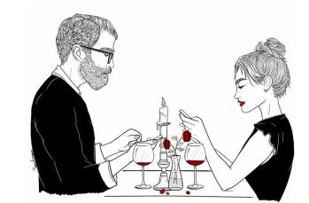 /男女一起吃饭
