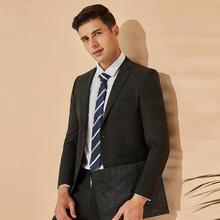 男士韩版修身帅气绅士结婚西服两件套