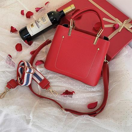 简约不简单时尚百搭手提包大红婚包