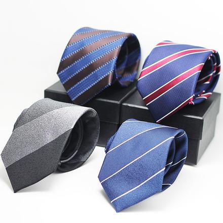 男士结婚蓝色系帅气绅士条纹领带