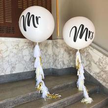 Mr&Mrs一对圆形乳胶36寸大气球
