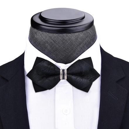 男士韩版镶钻尖角帅气领结