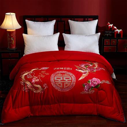 中式龍鳳呈祥結婚喜被被芯