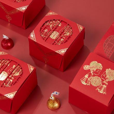 中式洞房花烛喜糖盒