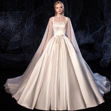 【2月3日陆续发货】缎面梦幻星空吊带婚纱•送三件套