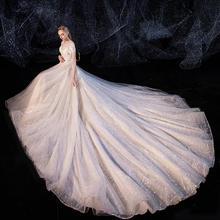 【2月3日陆续发货】森系星空大气超仙梦幻婚纱•送三件套