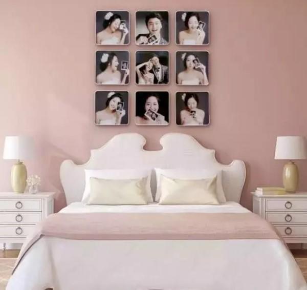 床头婚纱照适合的多张拼接