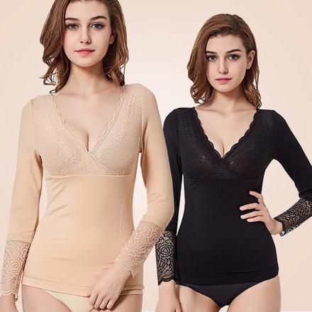 多功能享瘦美体加厚加绒保暖长袖贴身塑身衣